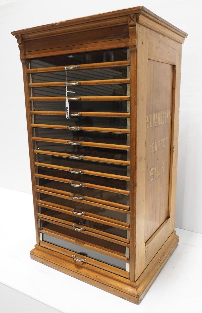 Oak Richardson's 14-drawer spool cabinet