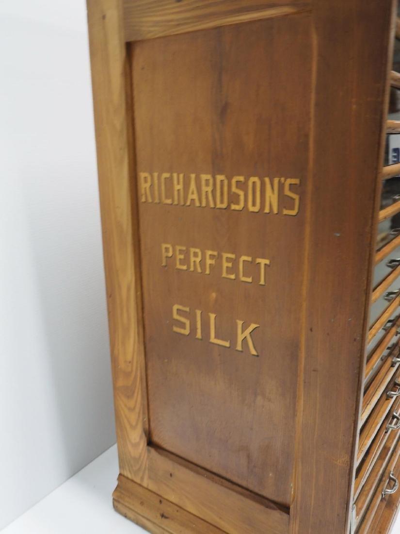 Oak Richardson's 14-drawer spool cabinet - 4