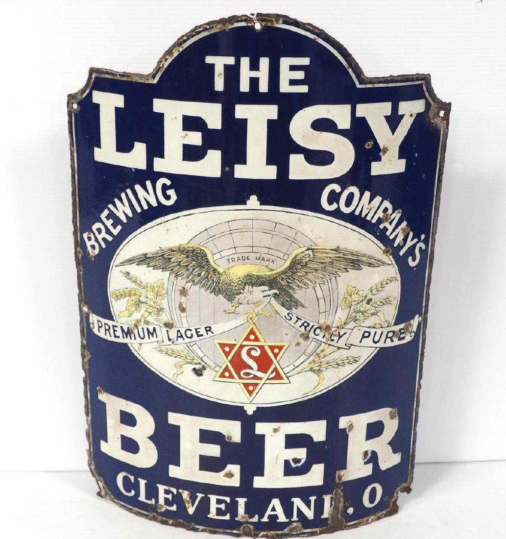 Curved The Leisy Brewing Co. Beer sign