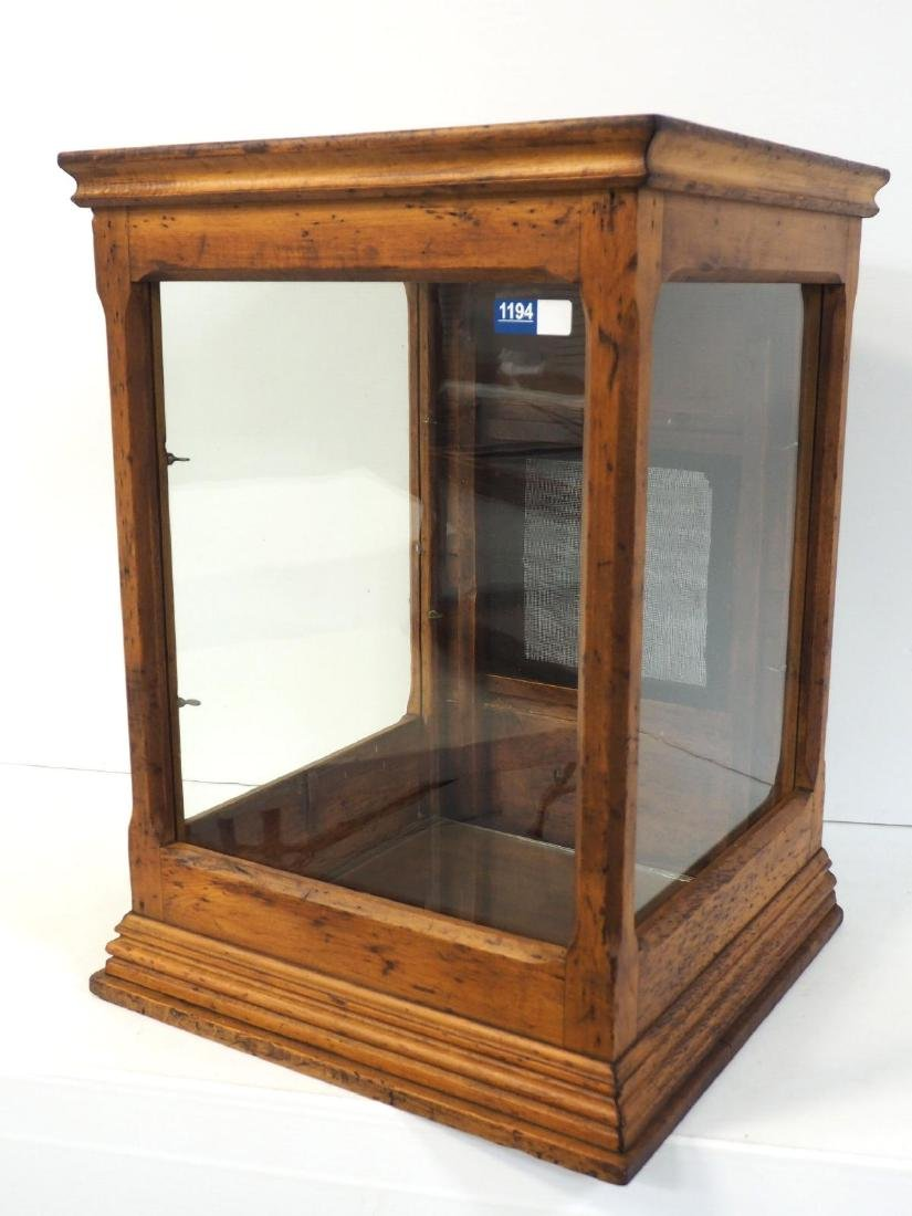Oak & glass countertop display case