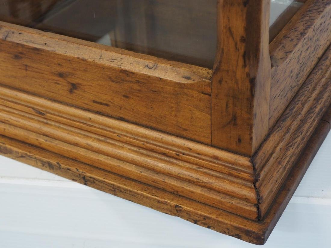 Oak & glass countertop display case - 2