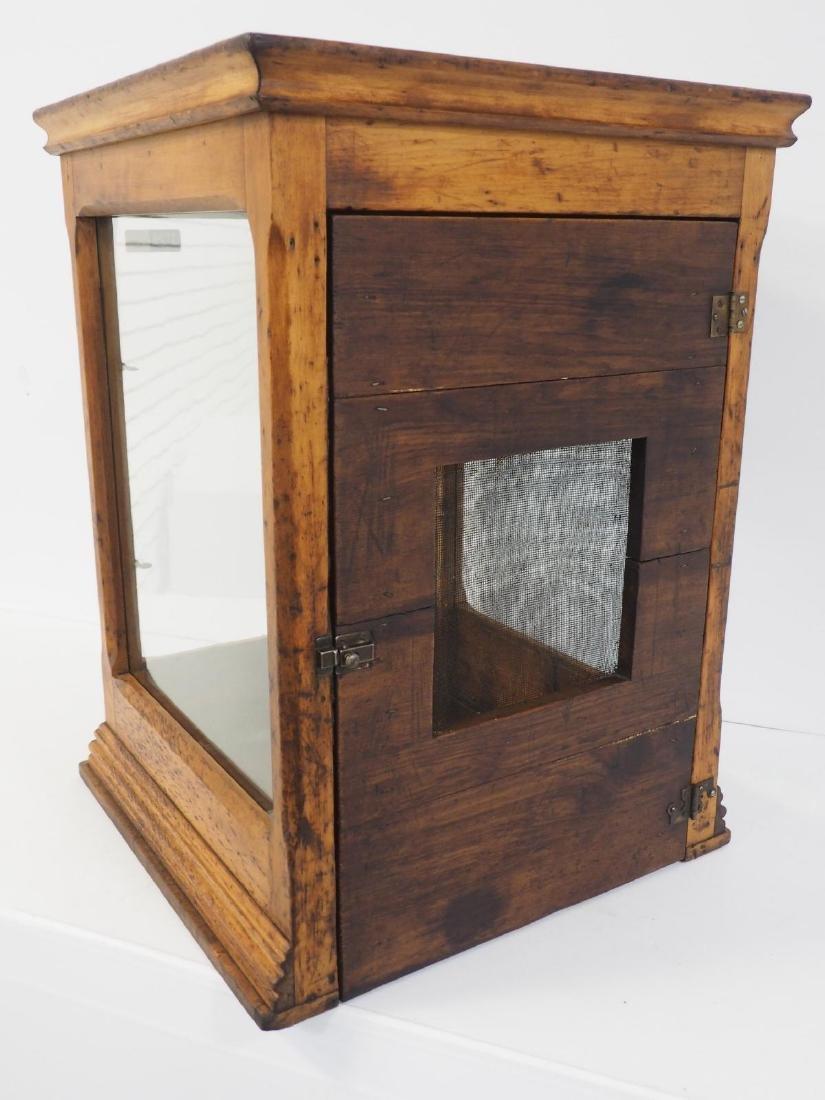Oak & glass countertop display case - 4