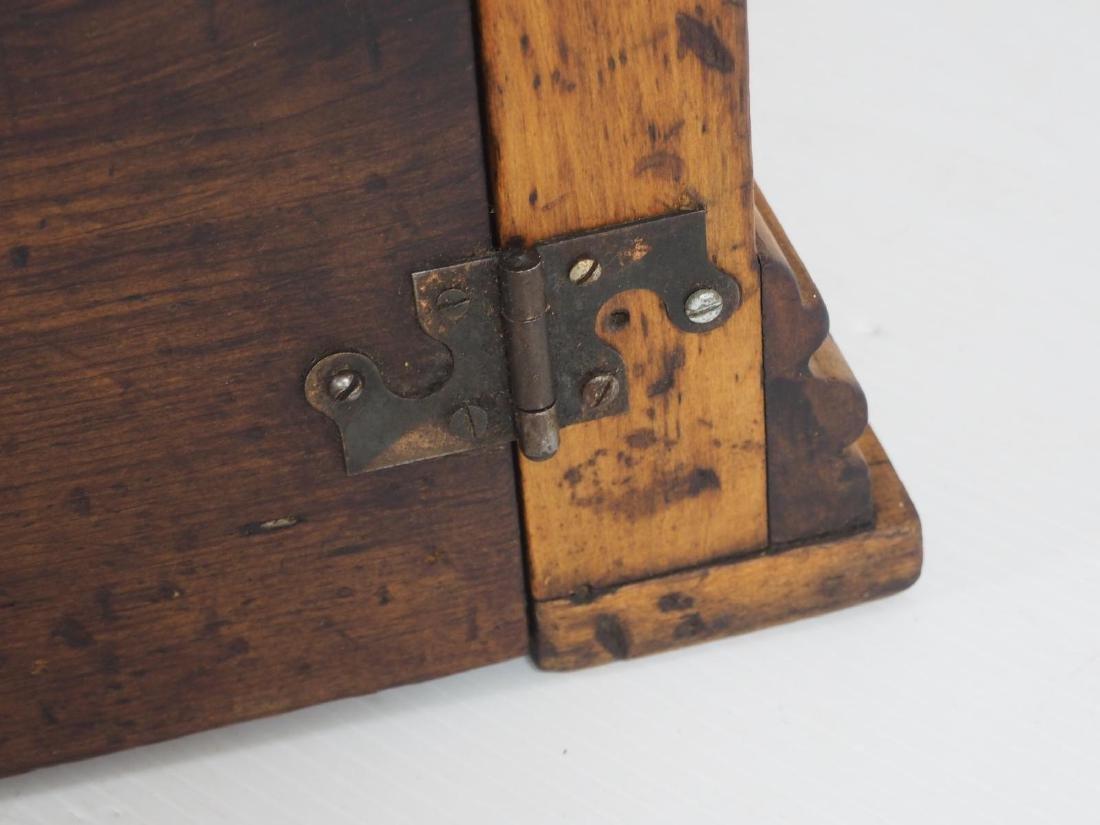 Oak & glass countertop display case - 5