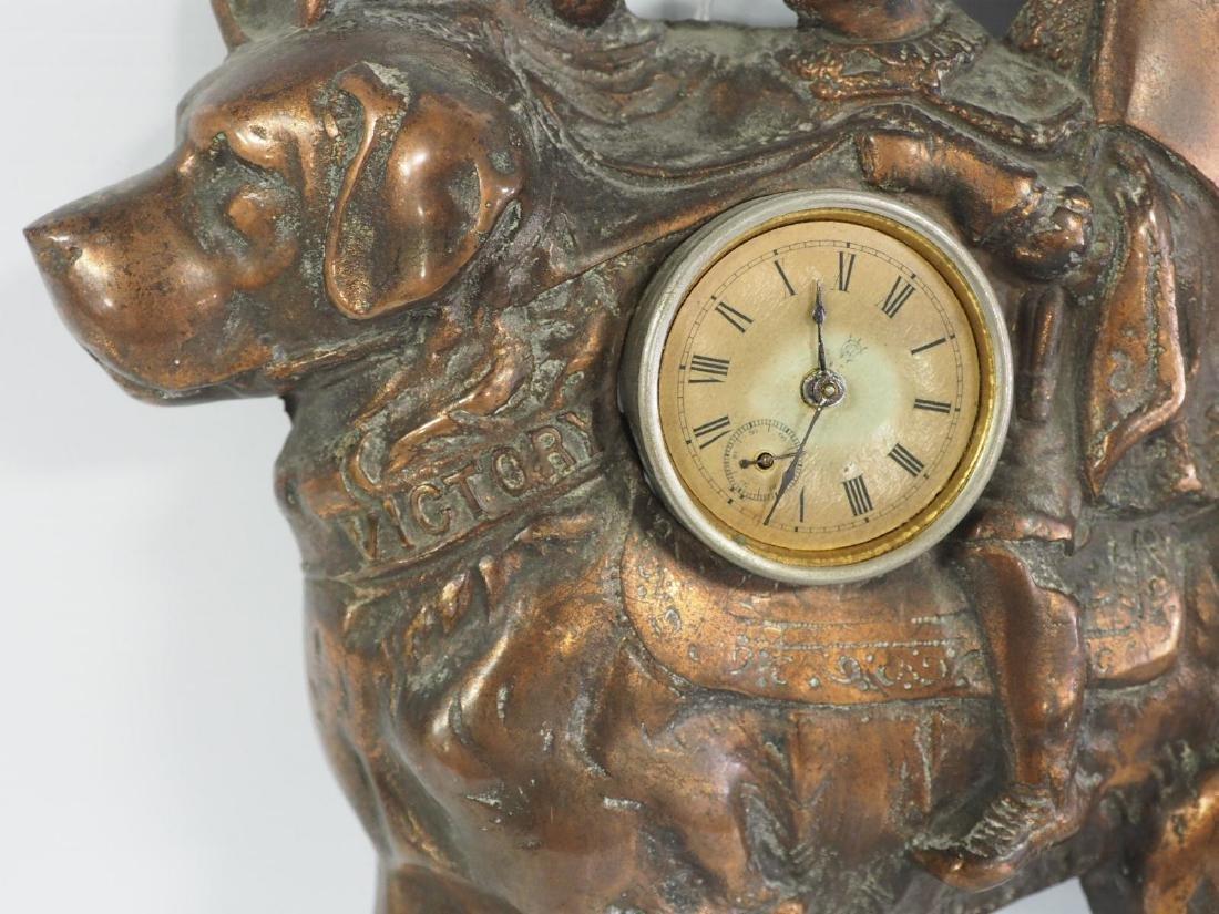 Cast iron Erham's Clothing advertising clock - 2