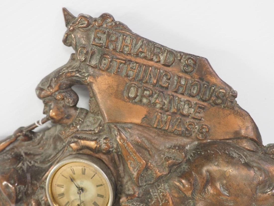 Cast iron Erham's Clothing advertising clock - 3