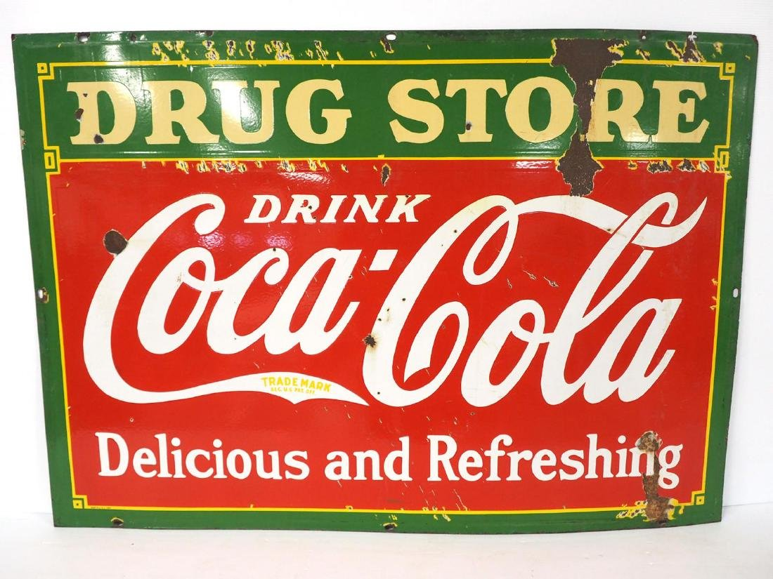 Coca Cola Drug Store sign