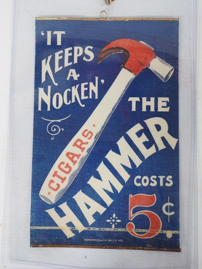 """""""The Hammer"""" cigar advertisement"""