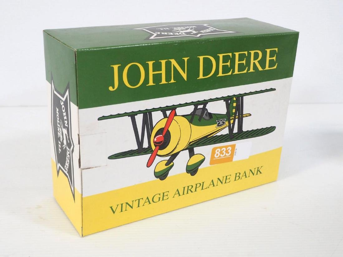 John Deere Staggerwing Airplane Bank