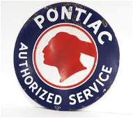 Pontiac Authorized Service sign