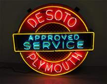 Desoto Plymouth neon sign