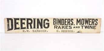 Deering Binders sign