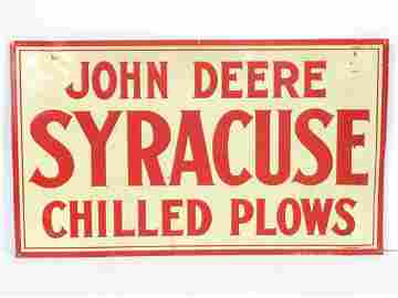 John Deere Syracuse Chilled Plows sign