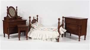 4-pc Victorian child's toy bedroom suite
