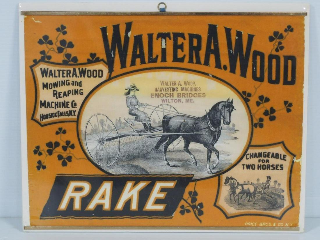 Walter A. Wood Rake sign
