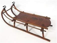 Primitive child's sled