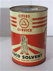 Cities Service Cisco Solvent can