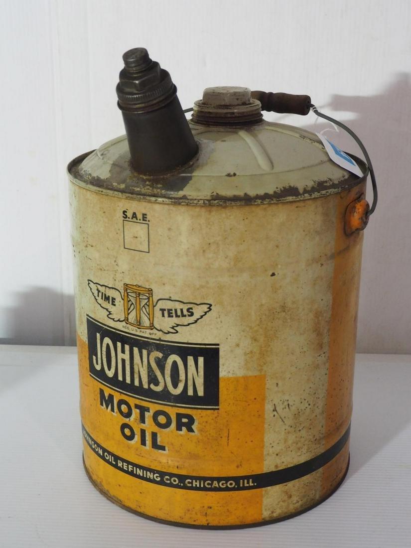 Johnson Motor Oil can