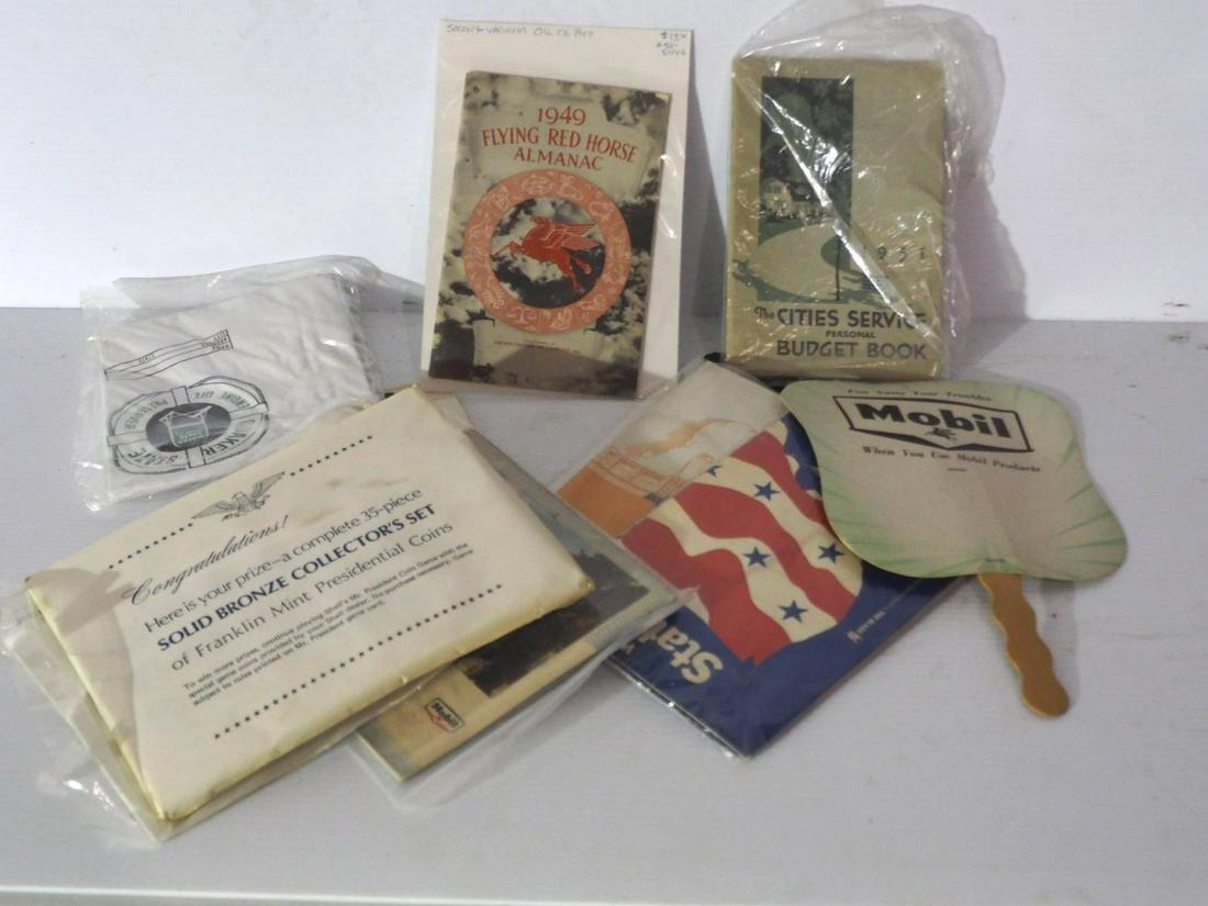Box of paper petroleum items