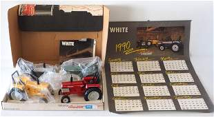 White American Tractor Set and calendar