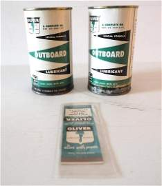 (2) Oliver Outboard Lubricant cans