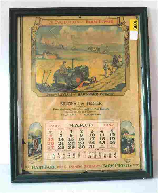 1927 Hart-Parr calendar, Canadian