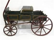 Child's wooden Junior pull wagon