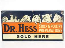 Dr Hess Stock & Poultry sign