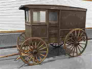 Maple Hill Dairy milk delivery wagon