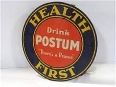 Health First Drink Postum hanging string holder