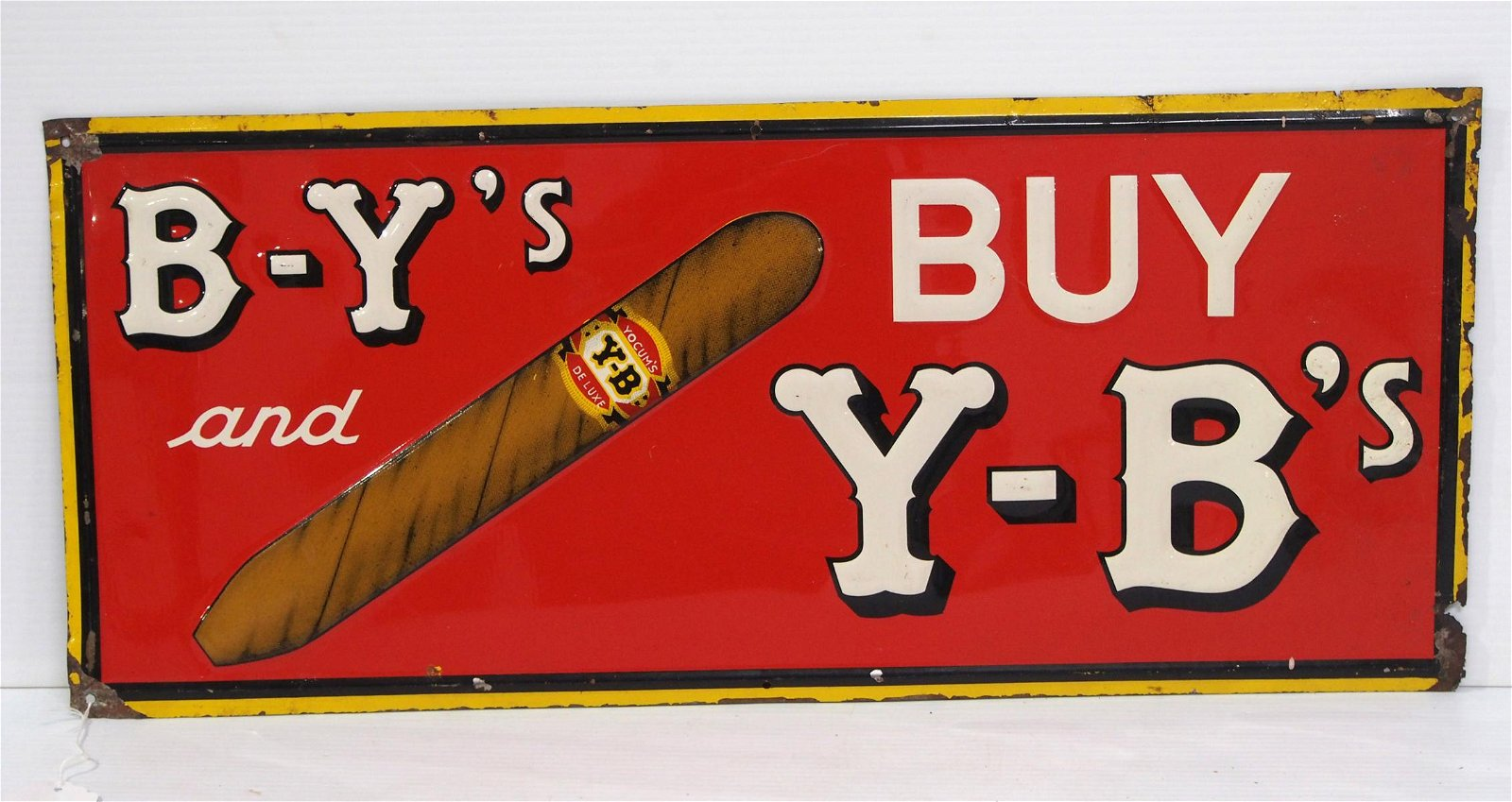B-Y's and Y-B's Cigar sign