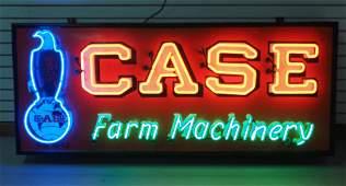 Neon Case Farm Machinery sign
