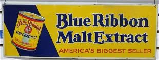 Blue Ribbon Malt Extract sign