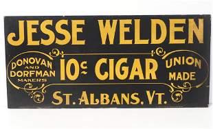 Jesse Welden 10-cent cigar poster