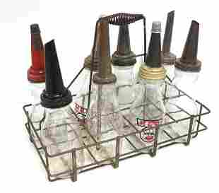 (8) Glass oil bottles with carrier