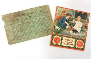 1913 Hood's Sarsaparilla calendar