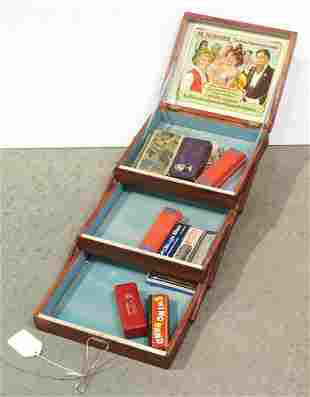 M. Hohners harmonica display case