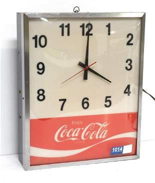 Coca Cola light-up clock