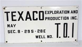 Texaco Exploration and Producing sign