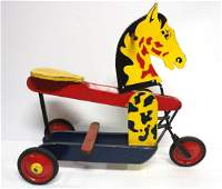 Wooden child's play horse