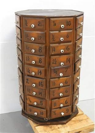 72-drawer hardware bolt cabinet