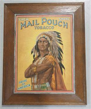Mail Pouch Tobacco lithograph