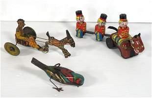 (3) Tin wind-up toys