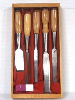 5-pc Ohio Tool Co Chisel Set