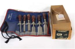 Early 6-pc Stanley Chisel Set 756