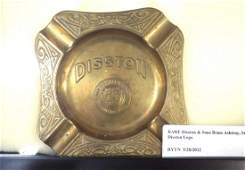 RARE Disston & Sons Brass Ashtray