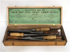 New Haven Edge Tool Co. Set of (10) Chisels