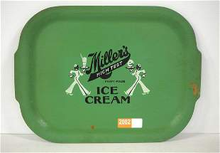 Miller's High Test Ice Cream tray