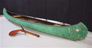 Old Town canoe with sailboat rudder