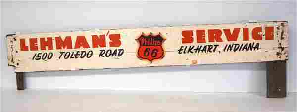 Phillips 66 truck side board panel