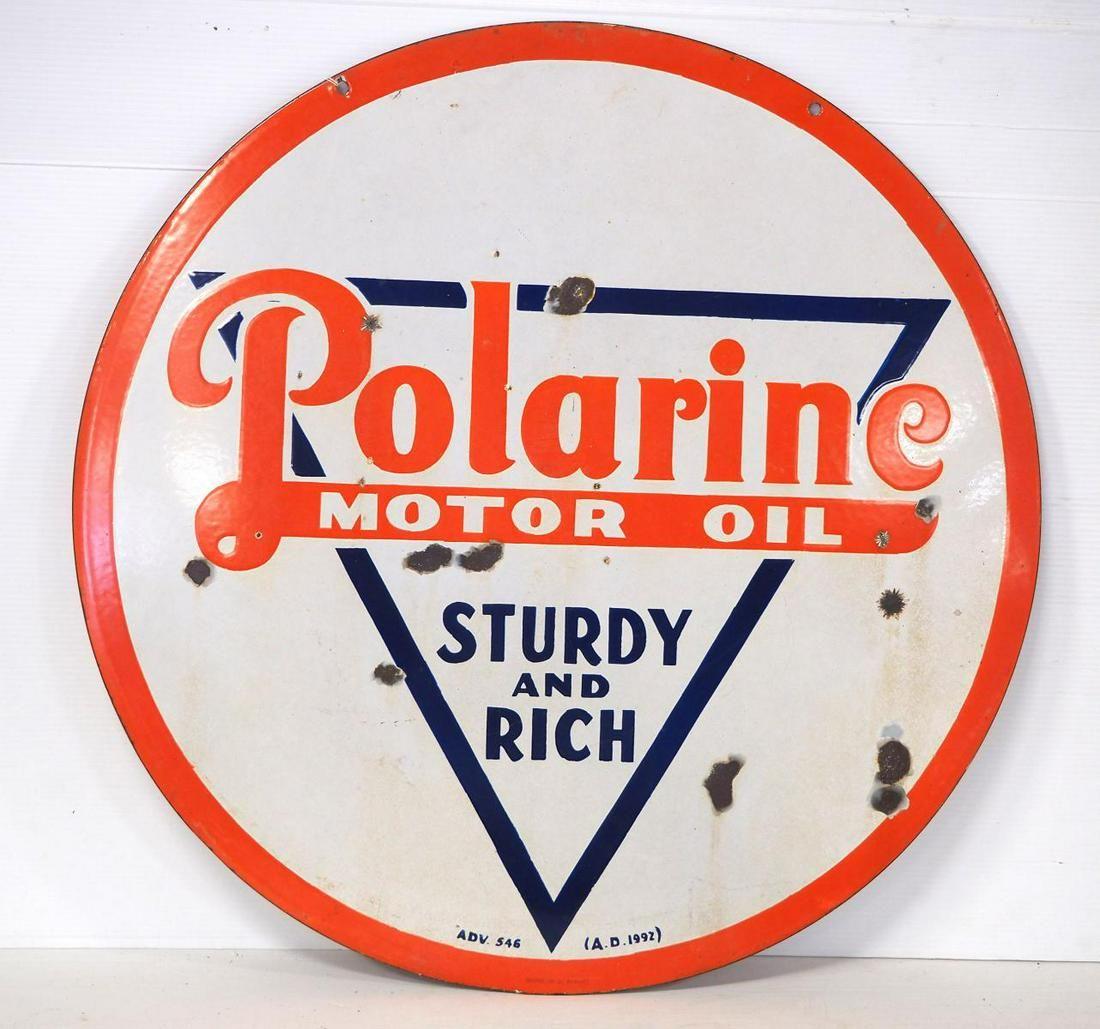 Polarine Motor Oil sign